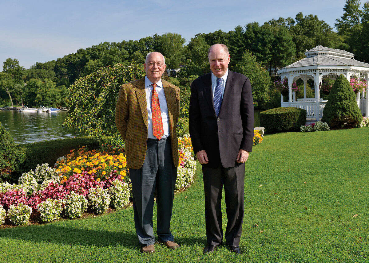 Contributed photo John Royce and Thomas Montague will be awarded the 2014 Macricostas Entrepreneur of the Year Award from Western Connecticut State University in October.