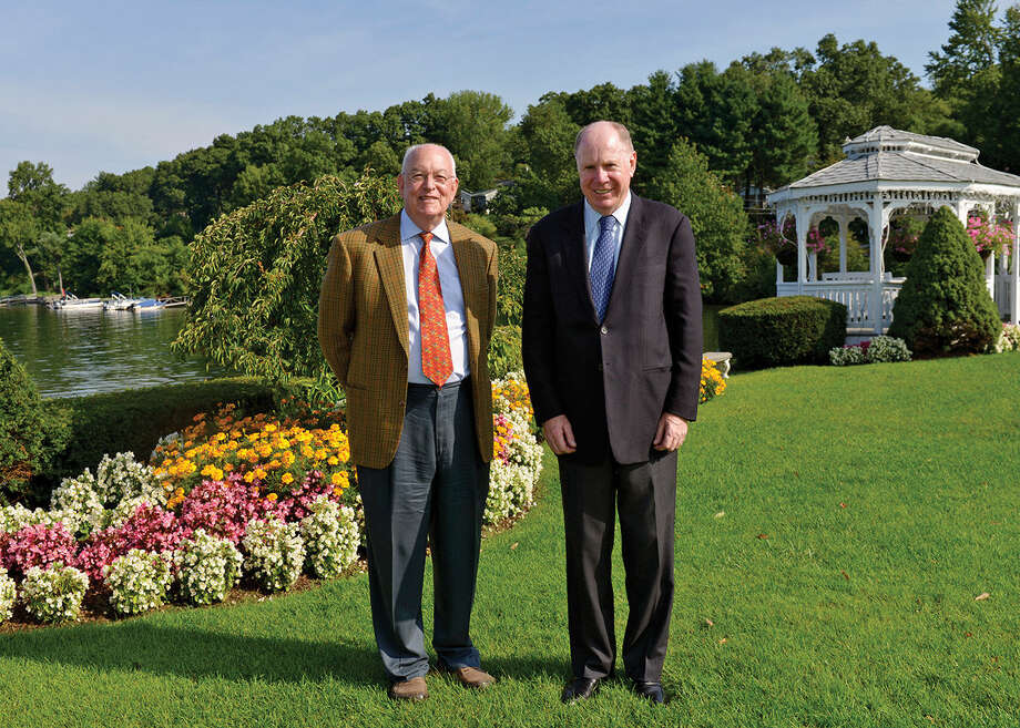 Contributed photoJohn Royce and Thomas Montague will be awarded the 2014 Macricostas Entrepreneur of the Year Award from Western Connecticut State University in October.