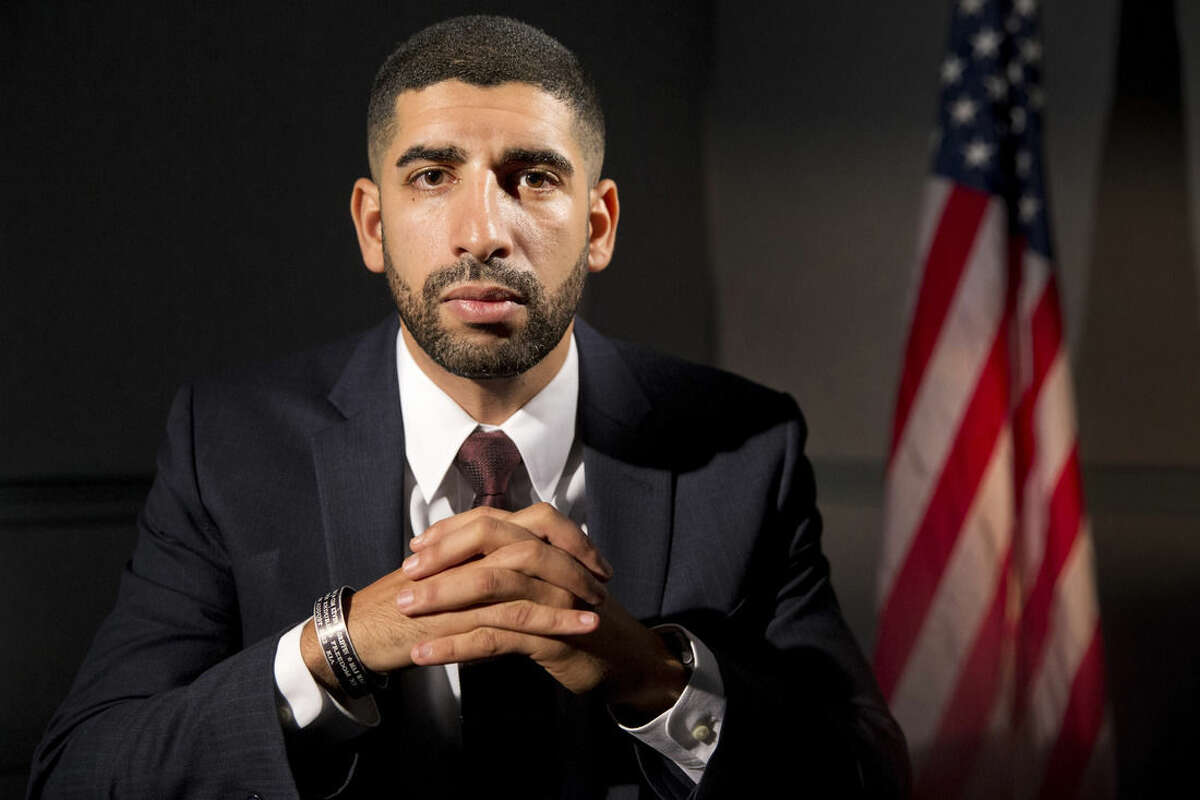 In this photo taken Oct. 20, 2015, former Army Captain Florent Groberg poses for a portrait at the Pentagon. President Obama will present him with the Medal of Honor on Nov 12, which will make Groberg the 10th living recipient of the nation's highest military award for actions in Afghanistan. (AP Photo/Jacquelyn Martin)