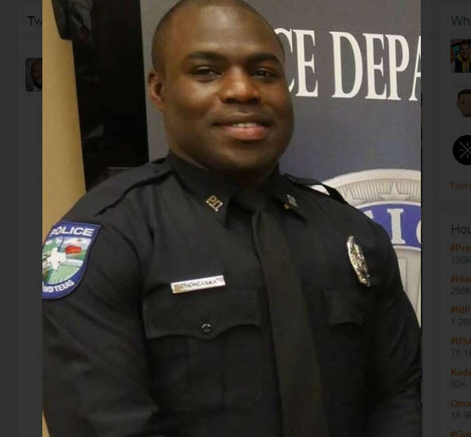 Pearland Officer Endy Epankya, 30, died Sunday morning in a head-on collision with a suspected drunken driver.