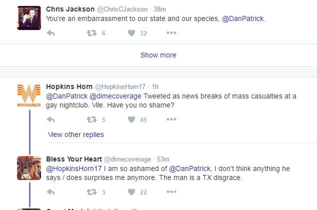 People on Twitter react to Dan Patrick's tweet Sunday morning.