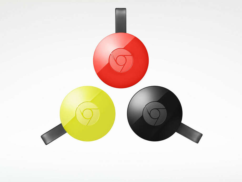 This image provided by Google shows the Chromecast. The Chromecast is a gateway to relay streaming video from your laptop, phone or tablet to the TV. (Google via AP)