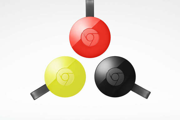 This image provided by Google shows the Chromecast. The Chromecast is an odd hybrid gateway to relay streaming video from your laptop, phone or tablet to the TV. (Google via AP)