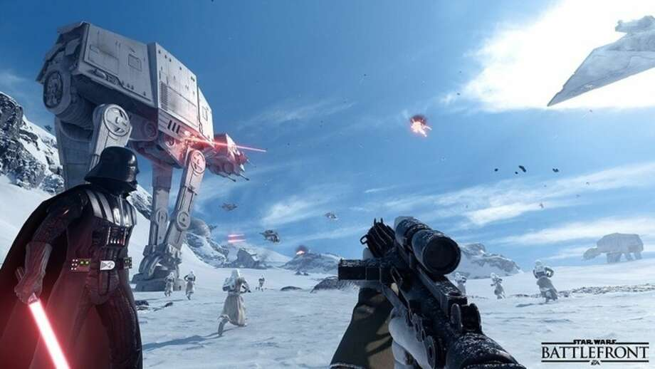 """This video game image released by Electronic Arts shows a scene from """"Star wars Battlefront."""" (Electronic Arts via AP)"""