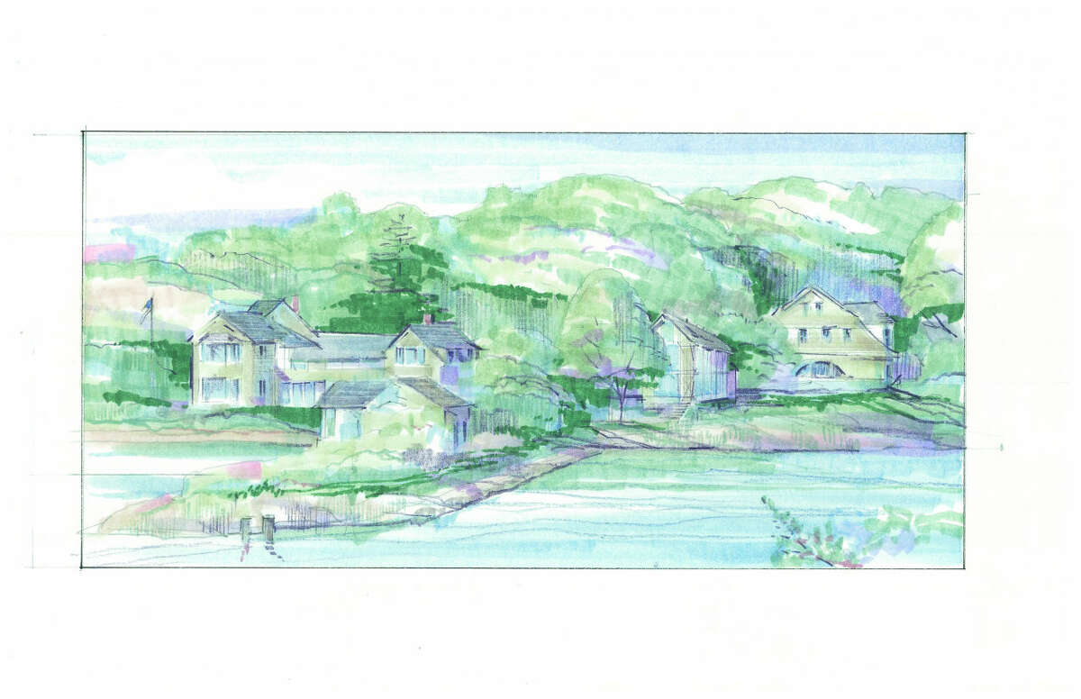 Rendering of Bruce Beinfield's proposed home on 2 Nearwater Road in Rowayton.