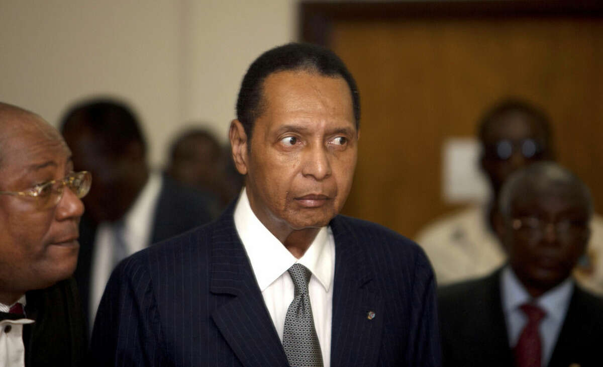 FILE - In this file photo dated Feb. 28, 2013, former Haitian dictator Jean-Claude Duvalier, known as
