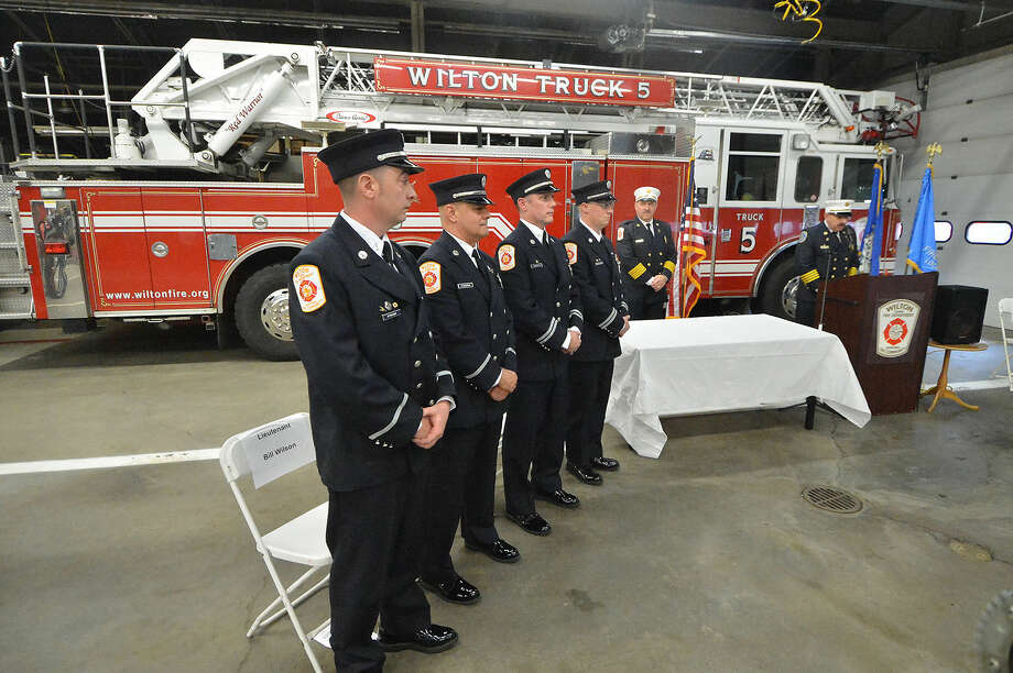 Hour Photo/Alex von Kleydorff Wilton Firefighter promotion ceremony at Fire Headquarters