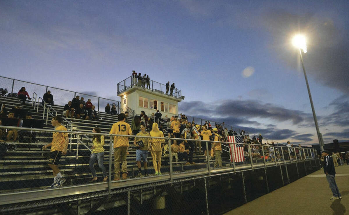 Hour photo/Alex von Kleydorff The stadium at Weston High will be lit yet again this week when the Trojans host Bunnell on Friday for Weston's third ever home game under the lights.