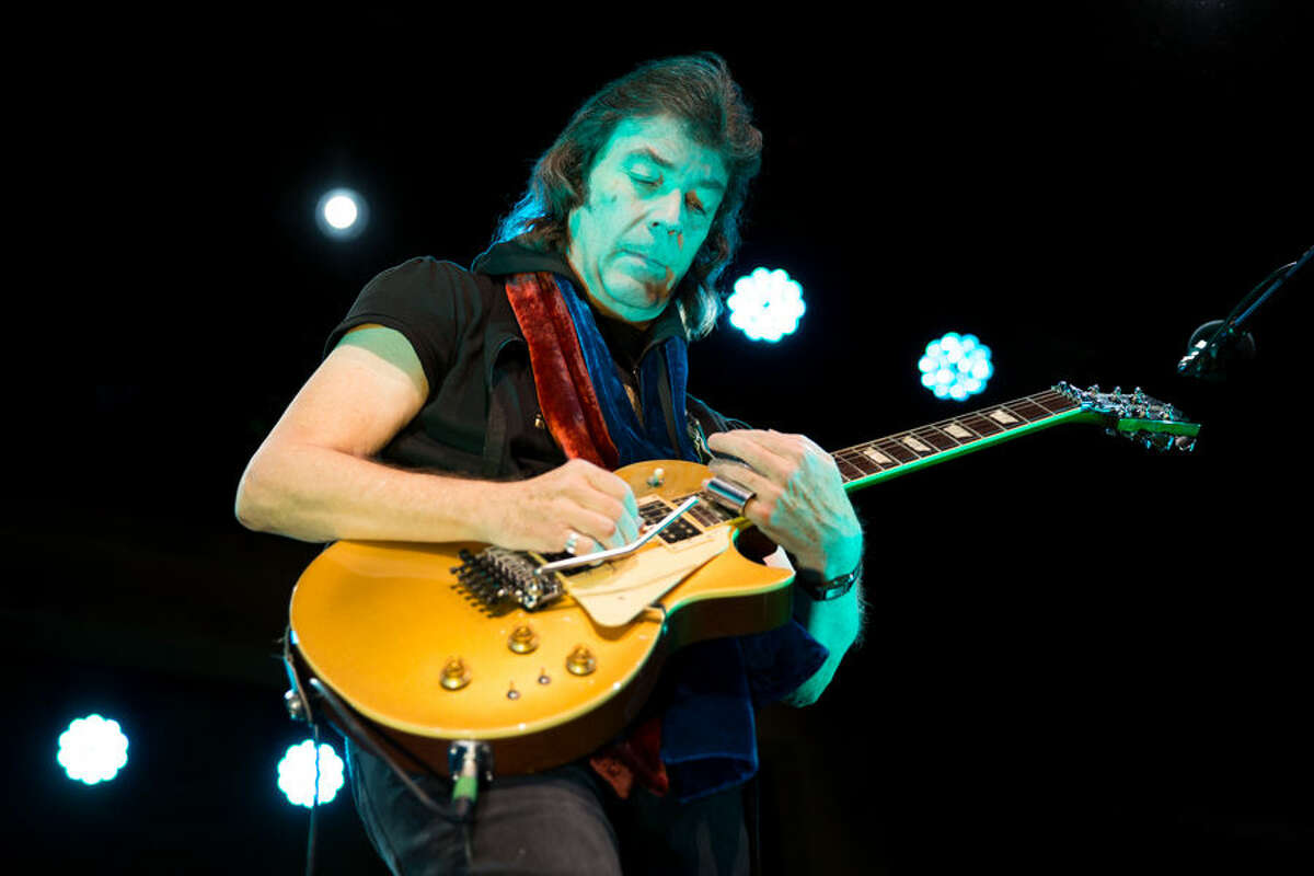 Steve Hacket performs at the Fairfield Theatre Company Sunday night.