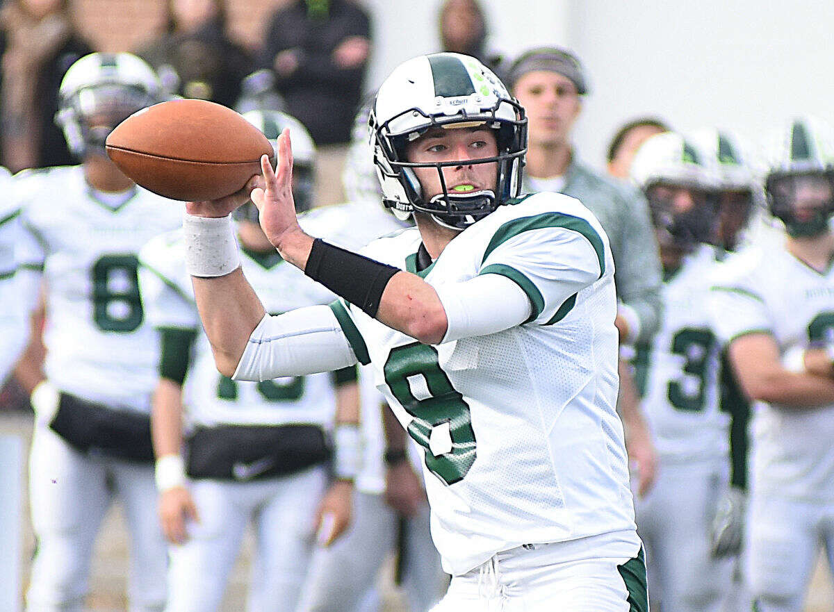 Hour photo/John Nash - Action from Thanksgiving Day's high school football showdown between Norwalk and Brien McMahon. Norwalk won the game, 36-7.
