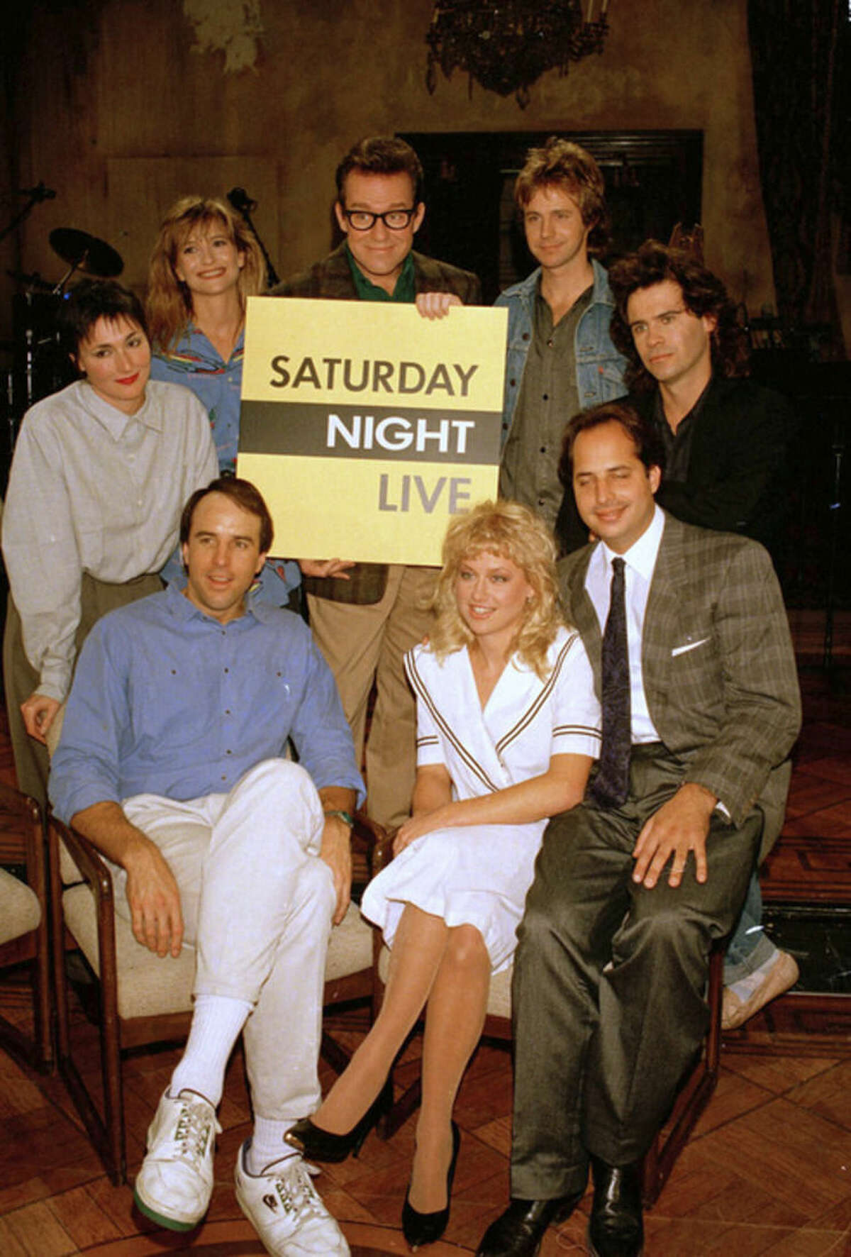 FILE - In this Dec. 9, 1986 file photo, the cast of NBC's
