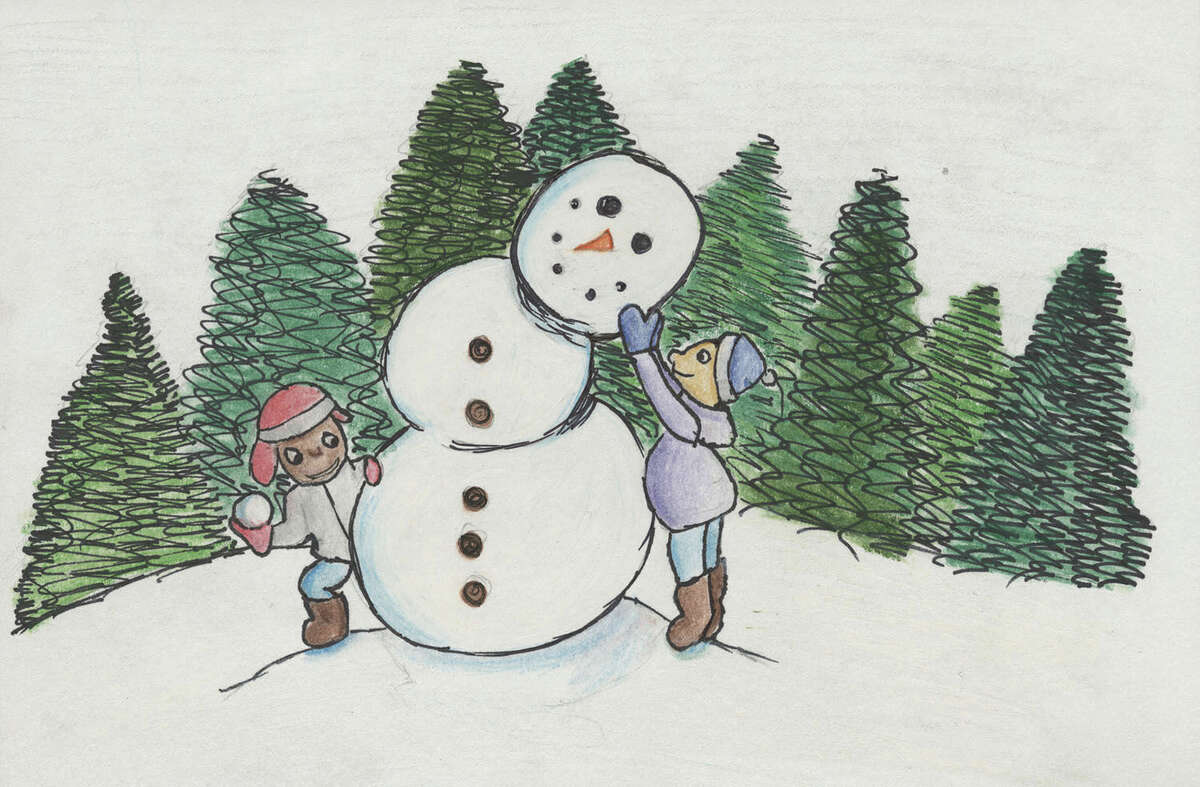 Stamford Public Schools announced the winner of the 2015 Holiday Greeting Card Competition. Mayor David Martin selected the artwork (above) of Nathalie Medero.