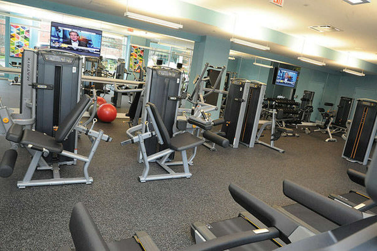 A gym facility in the new One Glover residential building in Norwalk. Hour photo/Matthew Vinci