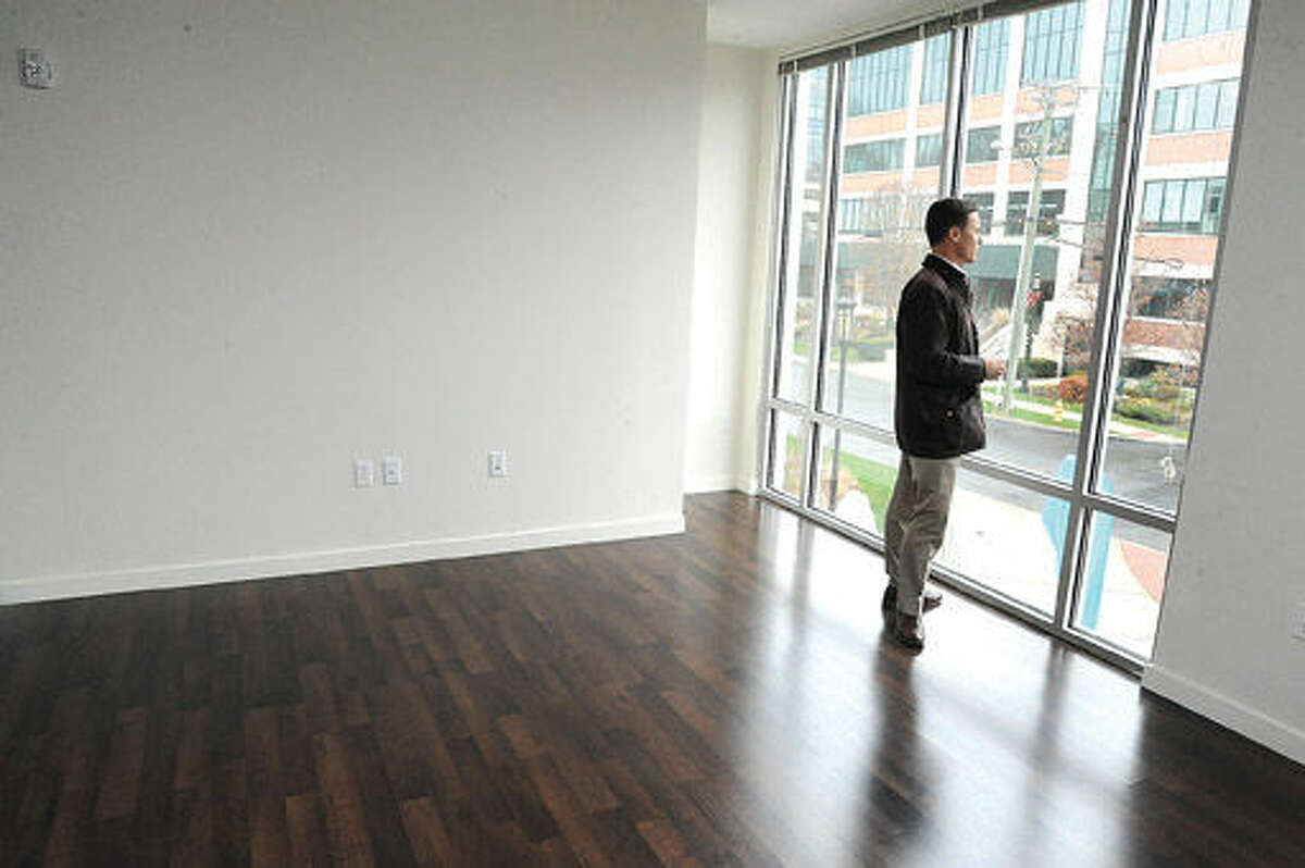 An unfurnished apartment in the new One Glover residential building in Norwalk. Hour photo/Matthew Vinci