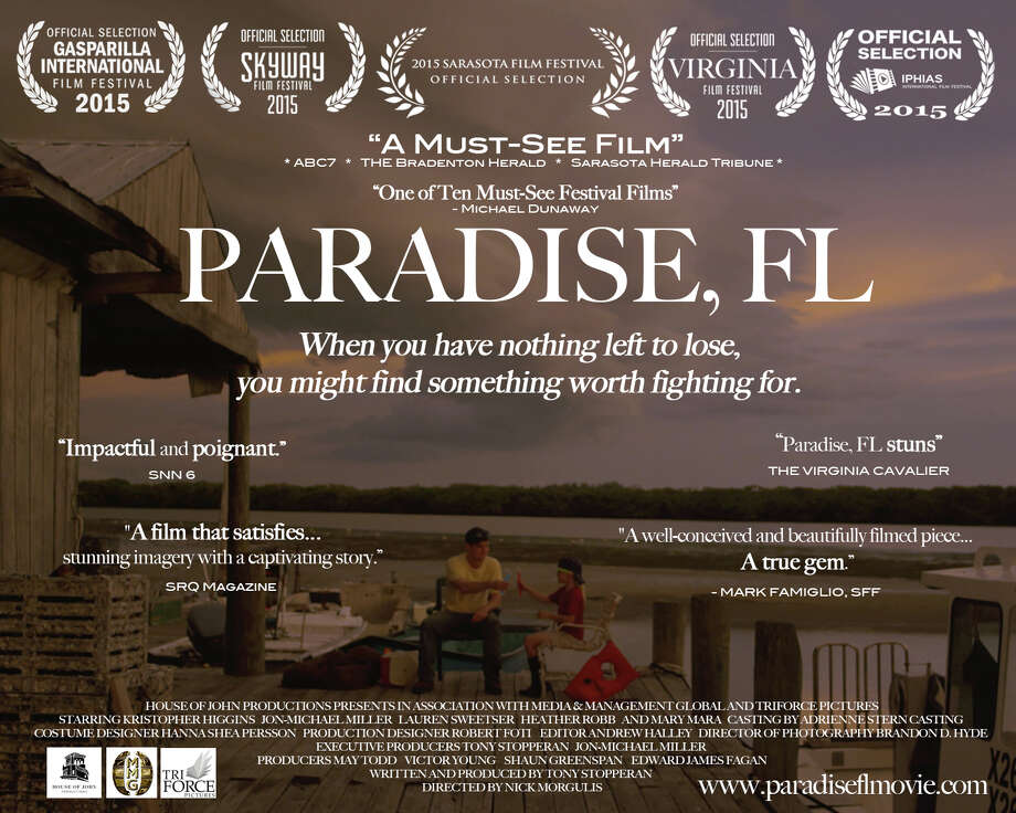 "Promotional poster for ""Paradise, FL."" Photo: Contributed / Contributed Photo / Westport News"