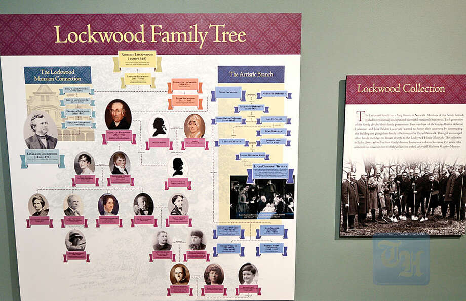 Hour photo / Erik Trautmann The Lockwood family tree display at the new Norwalk Museum . The museum is to reopen Saturday at its new location at the Lockwood House adjacent to City Hall.