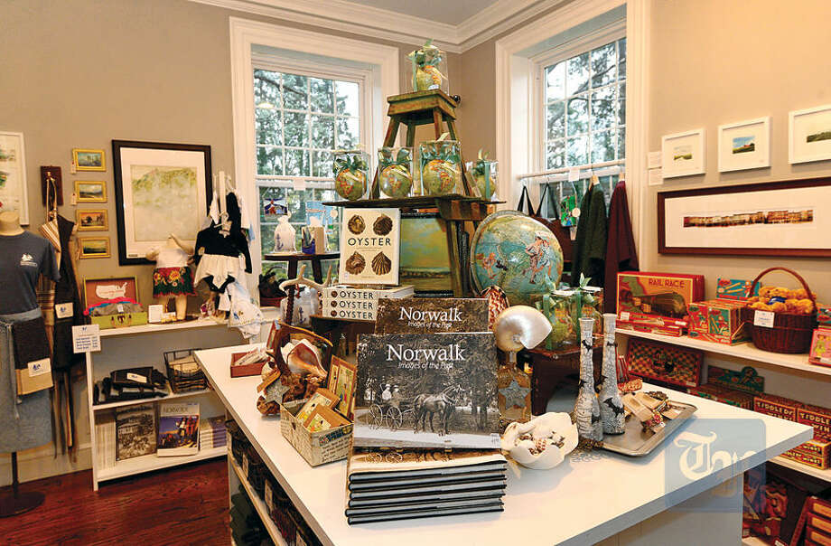 Hour photo / Erik Trautmann The Gift Shop at the new Norwalk Museum. The museum is to reopen Saturday at its new location at the Lockwood House adjacent to City Hall.