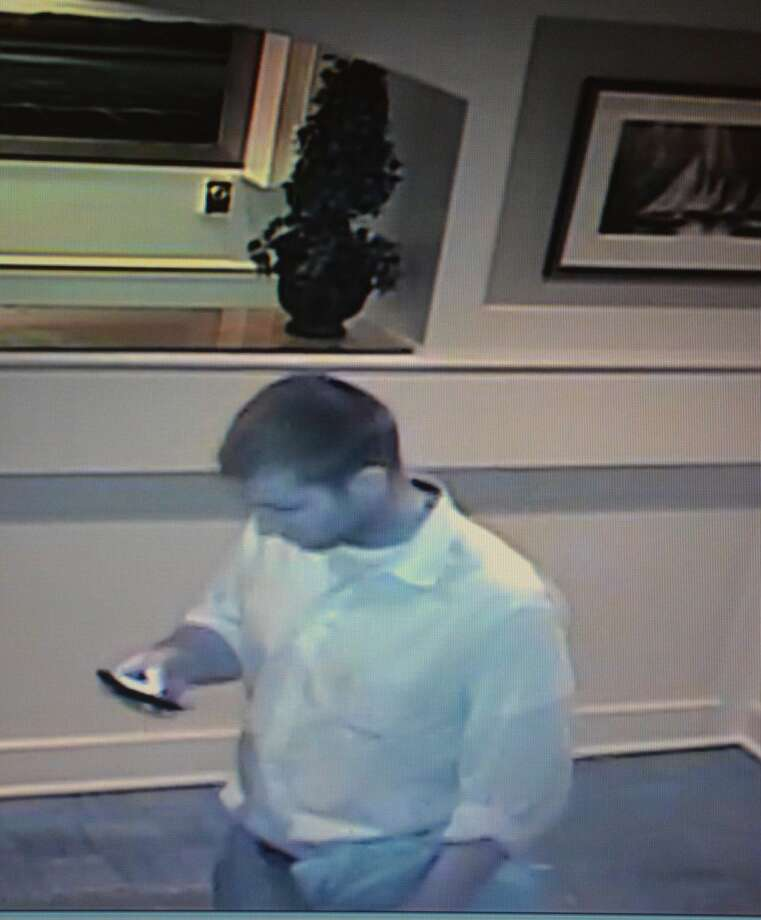 Suspect in thefts of wedding gifts in Westport on Saturday.