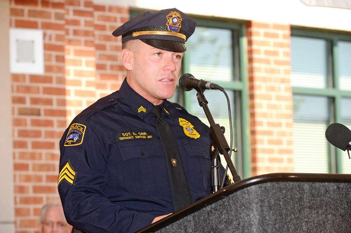Norwalk Police sergeant and Union President David Orr