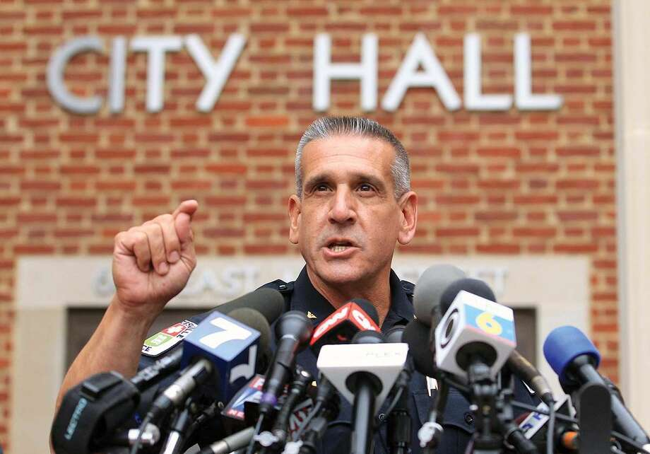 Charlottesville Chief of Police Tim Longo speaks during a news conference about missing University of Virginia student Hannah Elizabeth Graham, Friday, Sept. 19, 2014, in Charlottesville, Va. Graham was last seen early Saturday, Sept. 13. (AP Photo/The Daily Progress, Andrew Shurtleff)