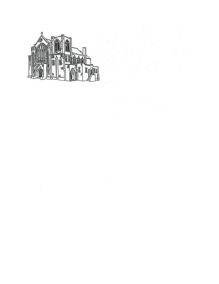 This is a pen and ink drawing of our church.