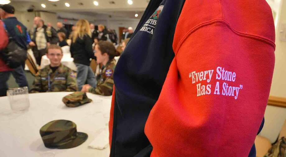 Hour Photo/Alex von Kleydorff Wreaths Across America stops in Norwalk for dinner at The St Ann Club on their way to Arlington National Cemetery