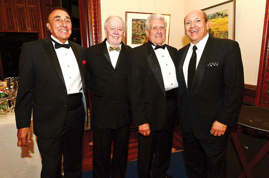 Hour photo / Erik Trautmann Mike Discala, Dick Brescia, Tony Depanfilis and Joe Passero attend the Lockwood mathews Mansion Museum Gala, Mystery at Elm Park: The Mansion's Pen and Inkwell Gala Saturday.