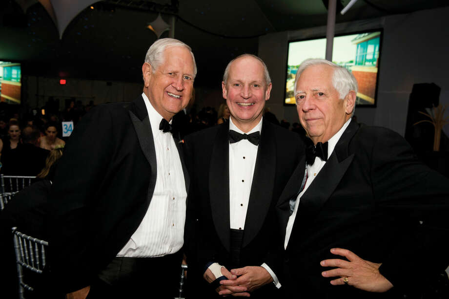 H. Darrell Harvey, co-chairman of the Stamford Hospital Foundation board; Brian Grissler, president and CEO of Stamford Hospital; and Peter Sachs, a Stamford Hospital Foundation board member, attend last year's gala.