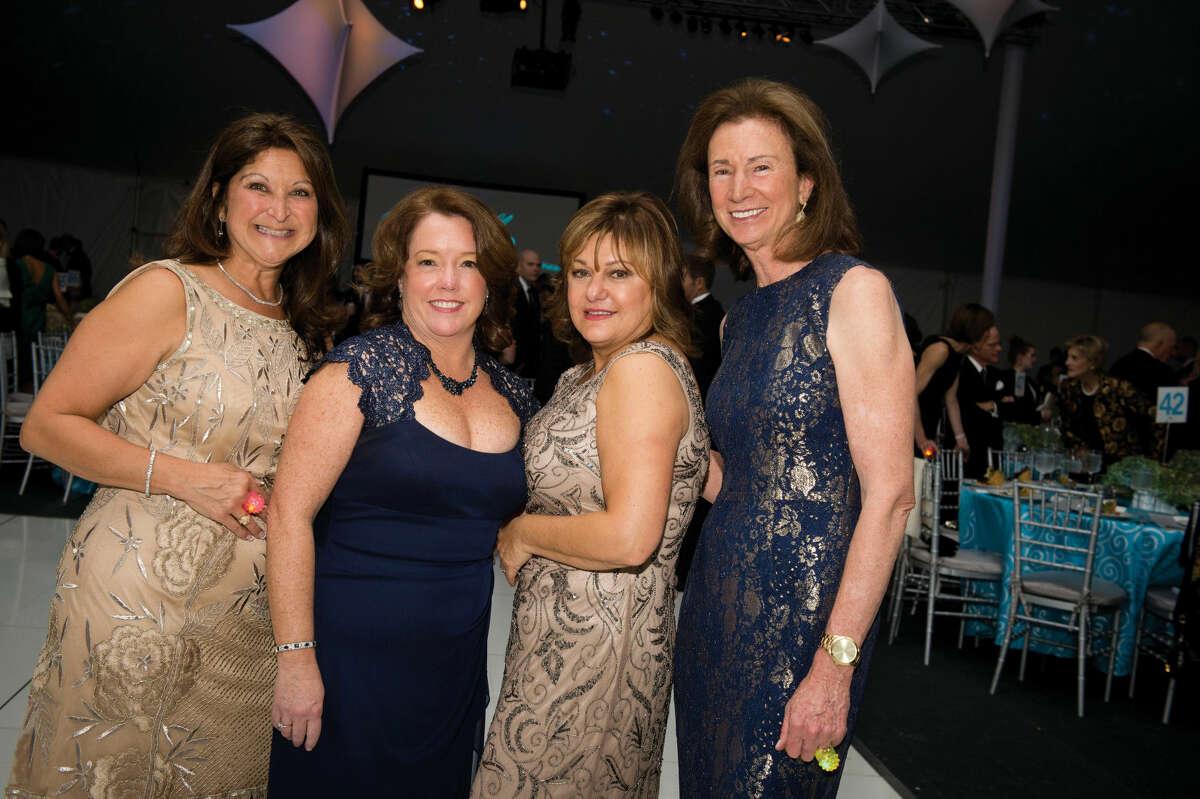 Lisa Molinaro, Ginny Landle, Carol Fedele and Kathy Sachs enjoy last year's annual Dream Ball Gala to benefit Stamford Hospital.