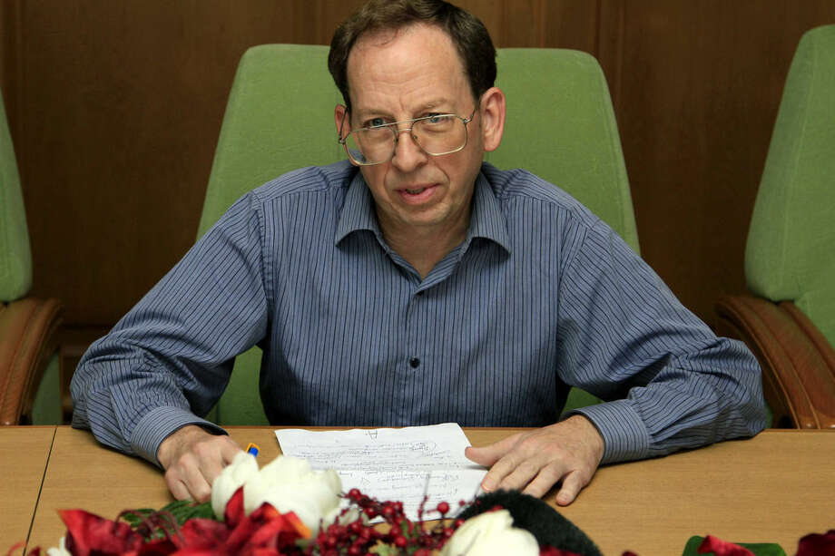 In this photo taken on Tuesday, Sept. 30, 2014, detained American Jeffrey Fowle is interviewed by journalists at the Koryo National Club in Pyongyang, North Korea. Fowle was detained for six months for leaving a Bible in a nightclub in the city of Chongjin, where he was visiting with a foreign tour group. He was flown out of North Korea on Tuesday, Oct. 21, 2014, on a U.S. military jet that two Associated Press journalists spotted at Pyongyang's international airport. Why did North Korea free Fowle, and only him, when two other Americans remain in prison there? Probably because Pyongyang considered him the most minor of the three offenders, and may believe that releasing him could improve abysmal U.S. relations and even temper growing international criticism of its human-rights record. (AP Photo/Kim Kwang Hyon)