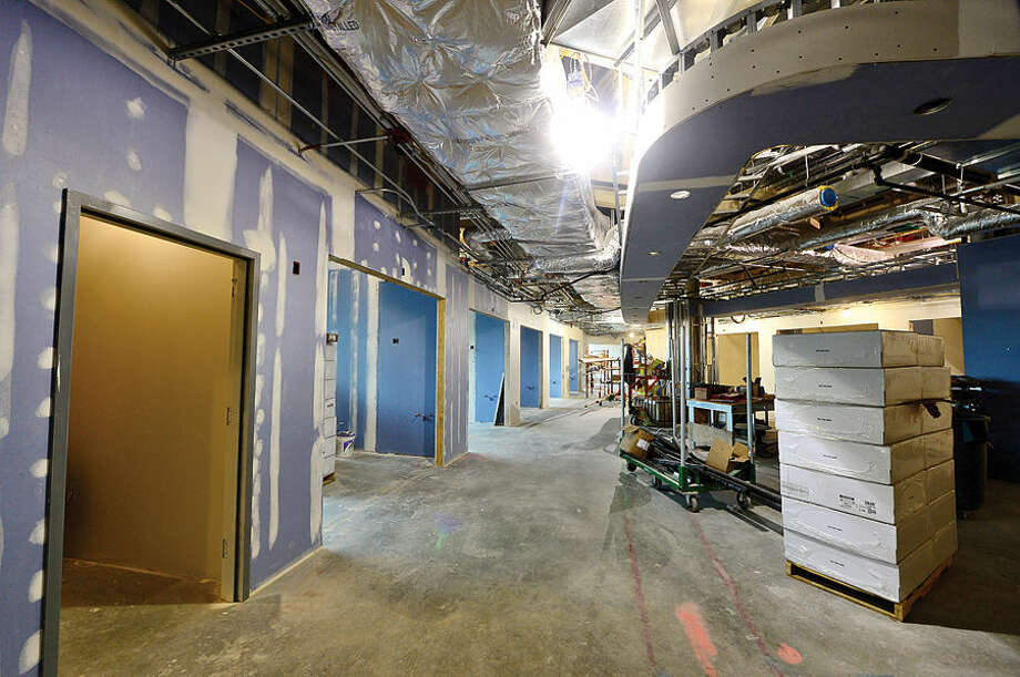 Hour photo / Erik Trautmann The Digestive Diseases floor in Norwalk Hospital's new Anne P. and Harold W. McGraw, Jr., Center, a five-story, 95,500-square-foot addition, slated for completion in 2015.
