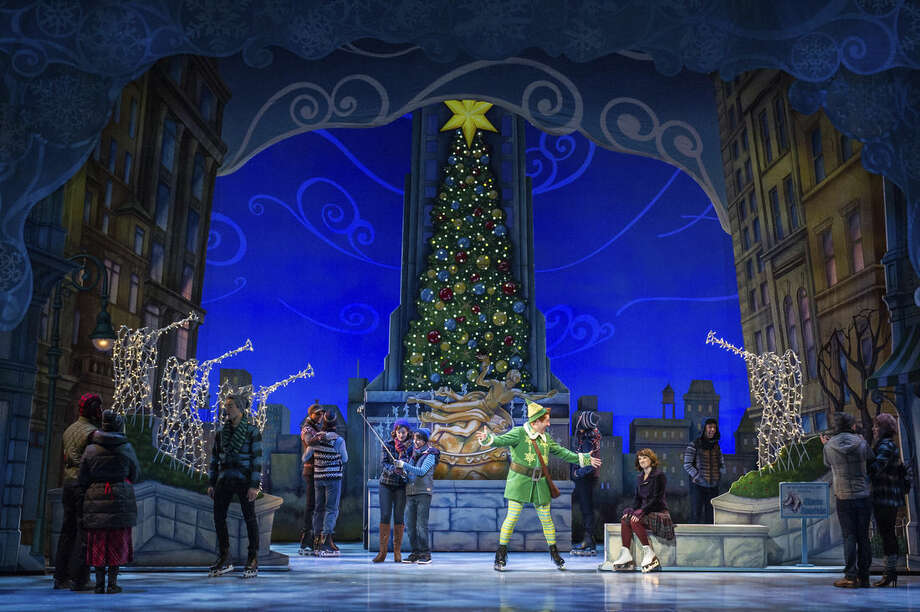 "This image released by Madison Square Garden Company shows a performance of ""Elf The Musical,"" playing at The Theater at Madison Square Garden in New York until Dec. 27. (Amy Boyle/Madison Square Garden Company via AP)"