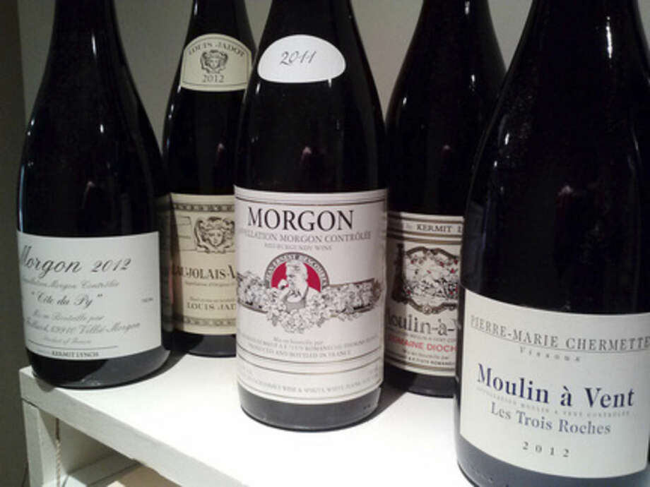 Photo by Frank WhitmanA selection of Beaujolais wines.