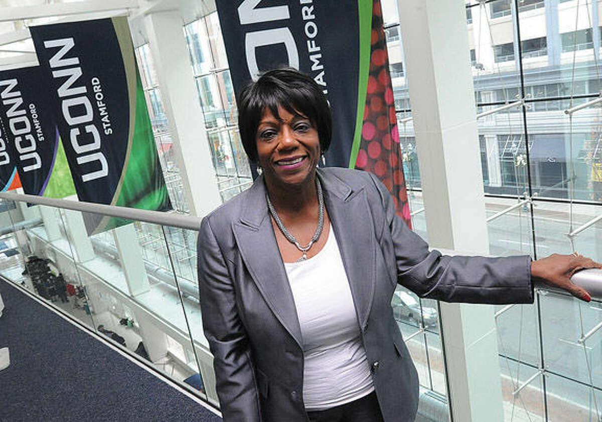 Dr. Sharon White, campus director of UConn Stamford. Photo/Matthew Vinci