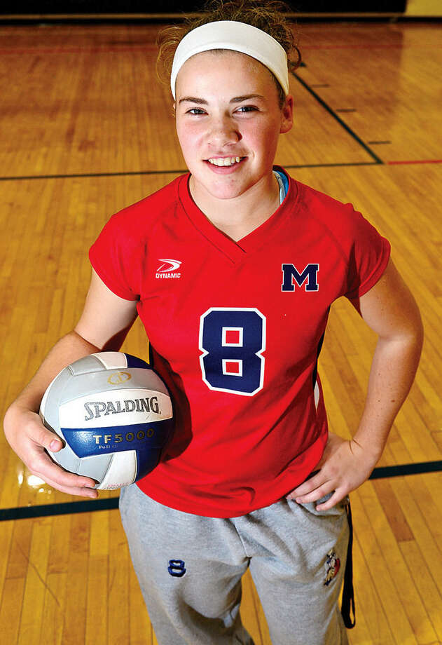 Hour photo / Erik Trautmann Ryan LaJoie, McMahon volleyball player