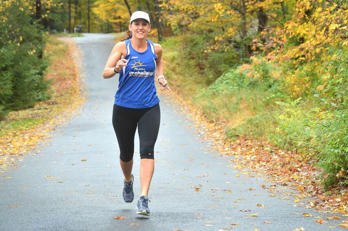 Wilton's Jenn Lewis will run in the New York City Marathon.
