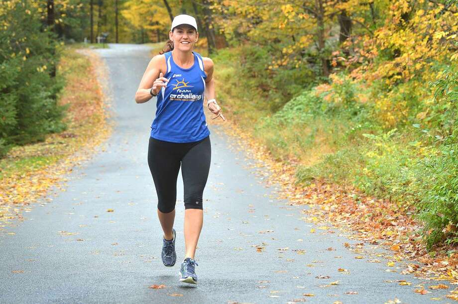 Wilton's Jenn Lewis will run in the New York City Marathon.