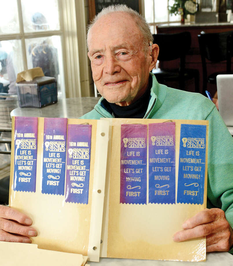 Hour photo / Erik Trautmann Robert Dowling, former local athlete who recently turned 90 years old.