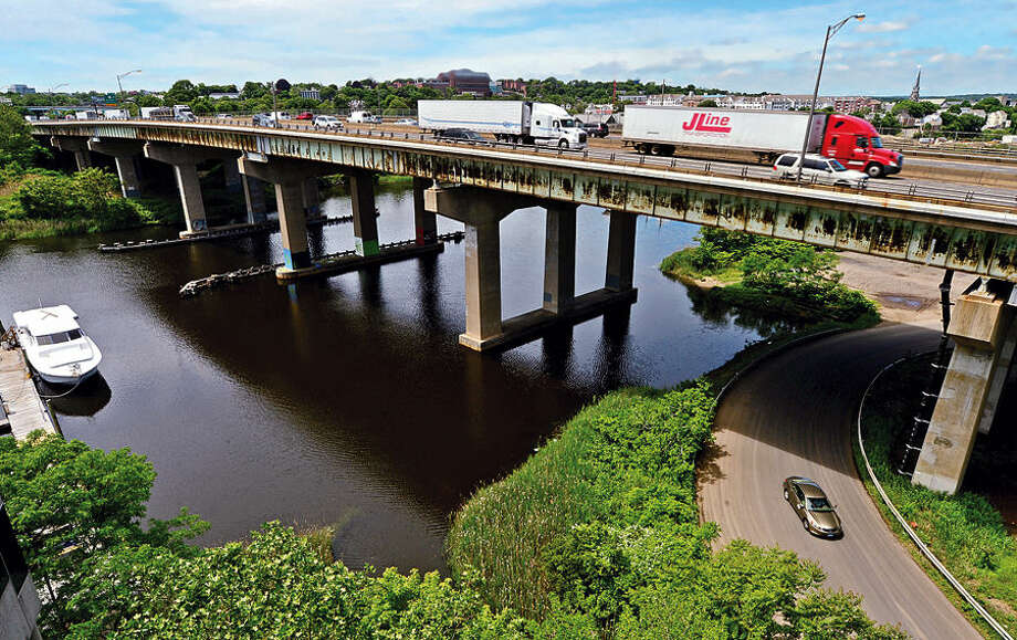 Hour photo / Erik Trautmann The Connecticut Department of Transportation to hold scoping meeting in Norwalk on June 15 on the proposed $29 million overhaul of Yankee Doodle Bridge over the Norwalk River.