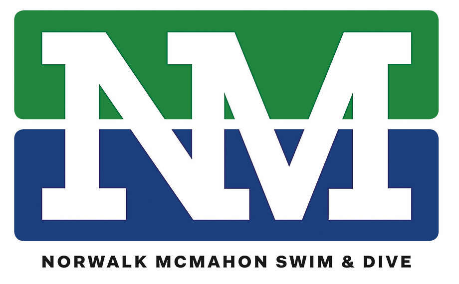 Norwalk-Brien McMahon co-op ice swimming and diving team logo.