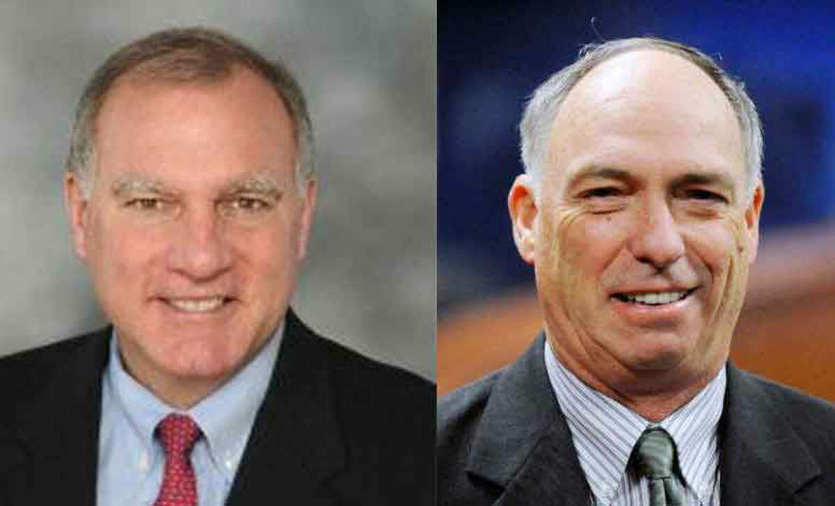 Incumbent Democrat George Jepsen for Conn. Attorney General, left, and Republican challenger Republican Kie Westby.