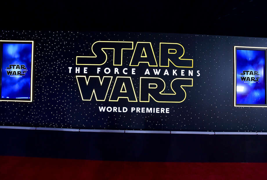 "A view of atmosphere on the red carpet at the world premiere of ""Star Wars: The Force Awakens"" at the TCL Chinese Theatre on Monday, Dec. 14, 2015 in Los Angeles. (Photo by Jordan Strauss/Invision/AP)"