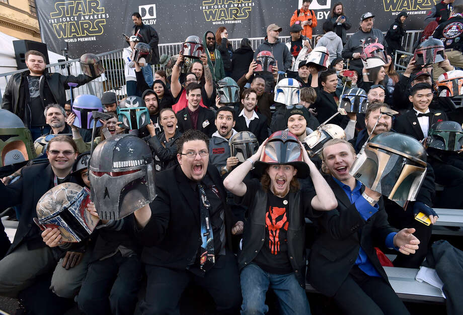 "Fans cheer in the stands at world premiere of ""Star Wars: The Force Awakens"" at the TCL Chinese Theatre on Monday, Dec. 14, 2015, in Los Angeles. (Photo by Jordan Strauss/Invision/AP)"