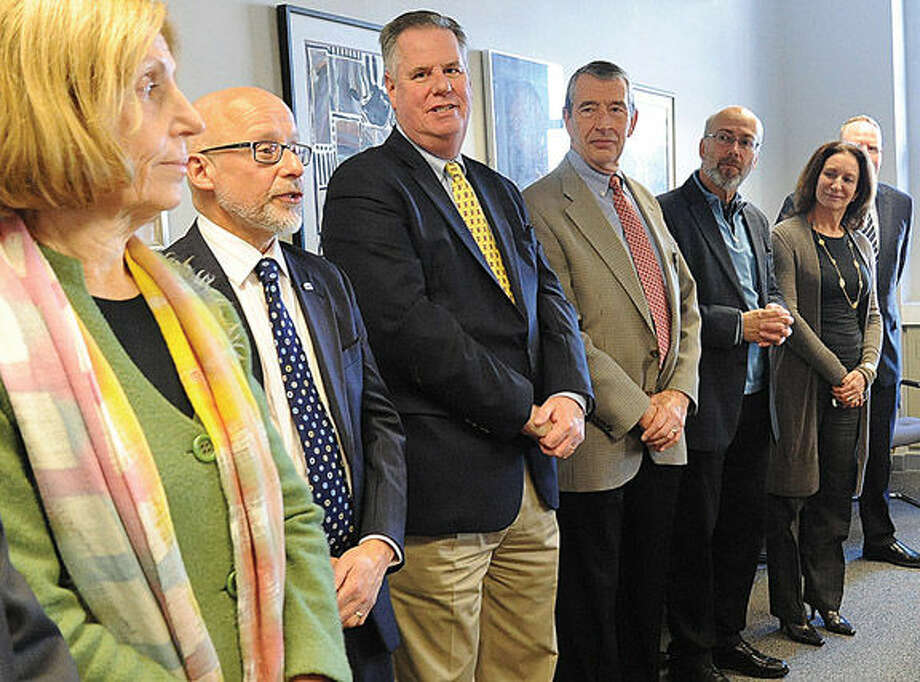 A meeting at Norwalk City Hall Tuesday for a new small business resource that is now available. The staff from the CT Small Business Development Center (SBDC) was introduced to the community. Hour photo/Matthew Vinci