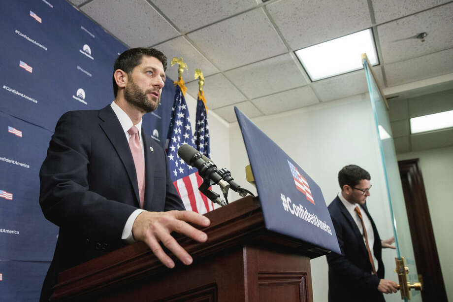 House Speaker Paul Ryan of Wis. speaks at a news conference on Capitol Hill in Washington, Wednesday, De. 16, 2015, following a GOP meeting. Congressional leaders girded to push a Christmas compromise on tax cuts and spending through the House and Senate by week's end after Republicans and Democrats reached agreement on a legislative package extending dozens of tax breaks for businesses and families and financing 2016 government operations. (AP Photo/Andrew Harnik)