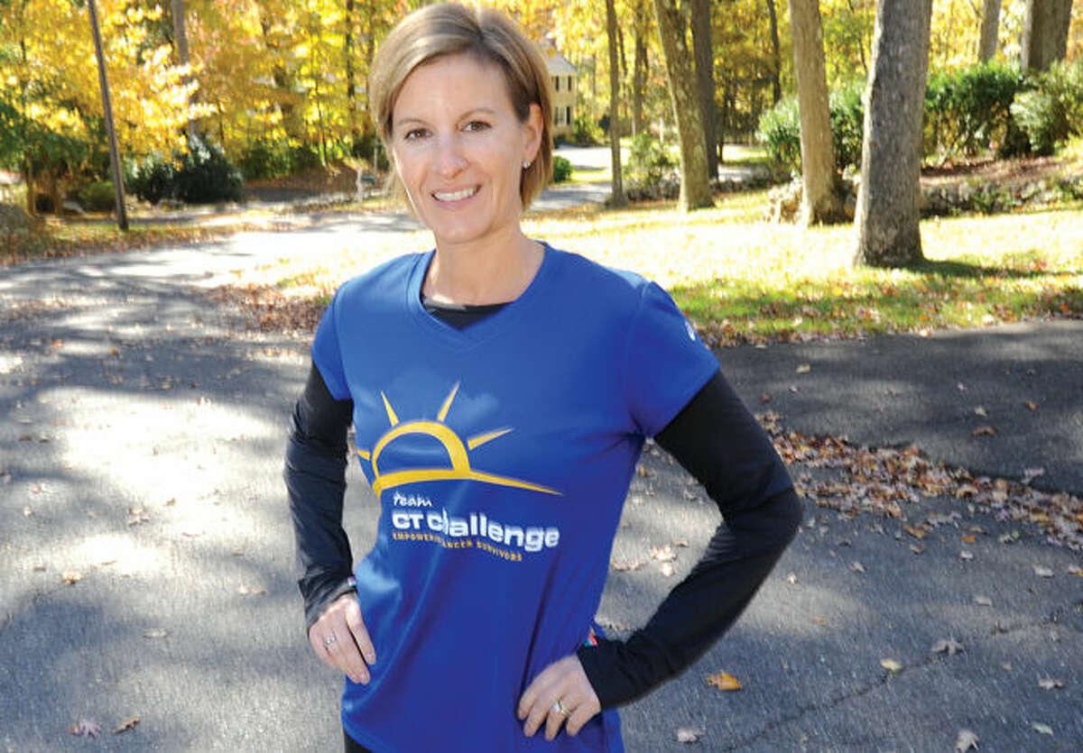 Lisa Schneider of Wilton is preparing to run NYC Marathon.