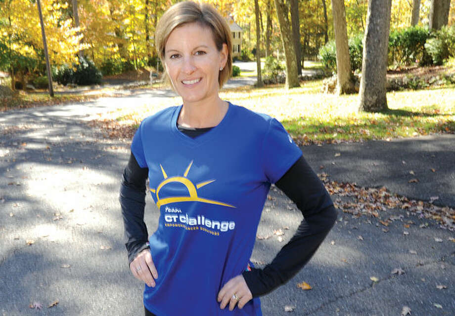 Lisa Schneider of Wilton is preparing to run NYC Marathon.
