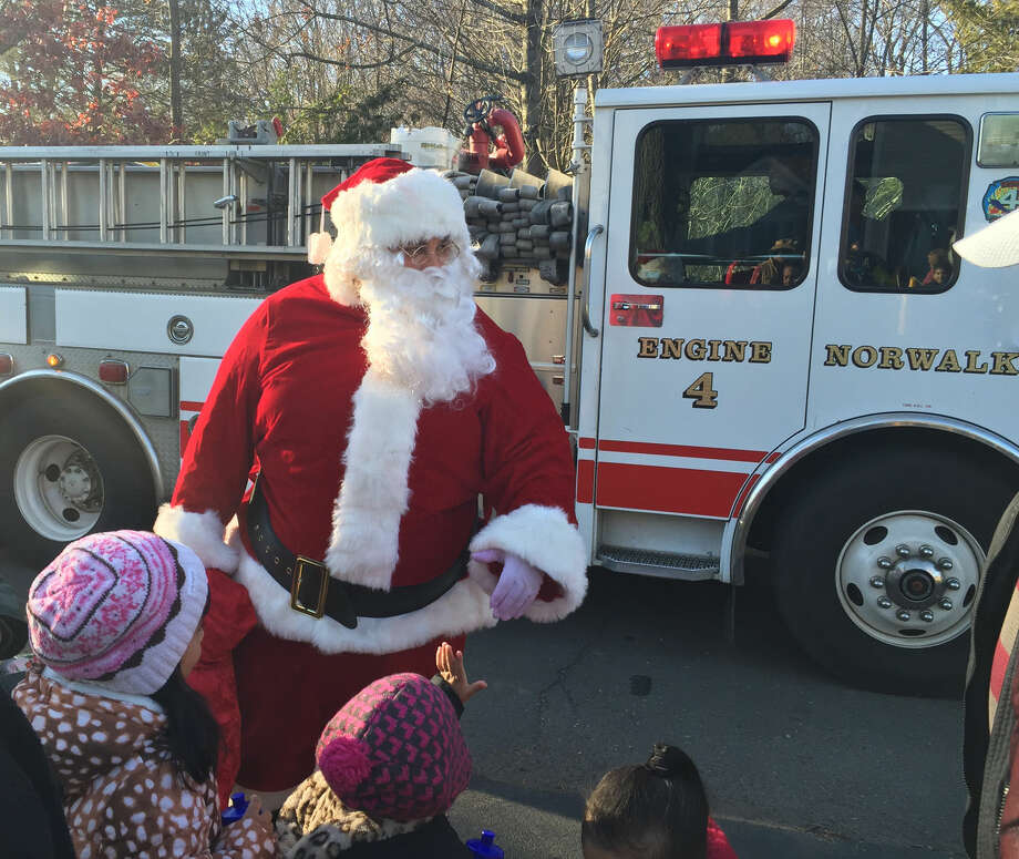 Contributed photo Santa made an appearance at Bob Duff's annual Holiday Open House on Sunday.