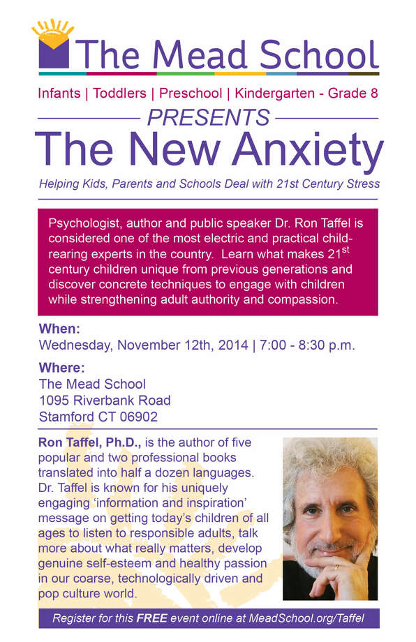 National Speaker Ron Taffel to Present at The Mead School