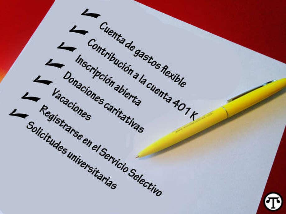 Asegurarse de llenar todos los formularios necesarios antes de fin de año puede ayudar a que tenga un año nuevo m‡s feliz. (NAPS)